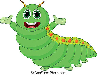 Cute caterpillar cartoon - Vector illustration of Cute...