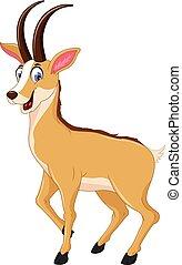cute chamois cartoon posing
