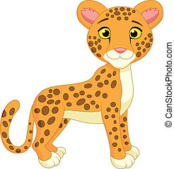 Cute cheetah cartoon