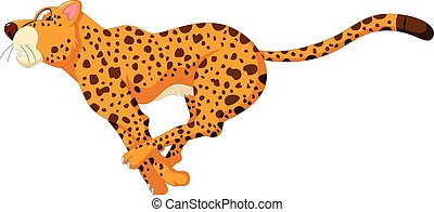 cute cheetah cartoon running