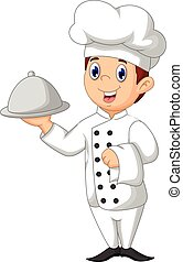 cute chef cartoon