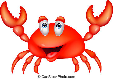 Vector illustration of Cute crab cartoon