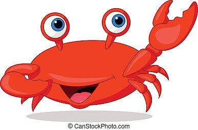 Cute crab cartoon - Vector illustration of Cute crab cartoon...