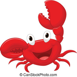 Cute crab cartoon - vector illustration of Cute crab cartoon