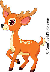 Cute deer cartoon - Vector illustration of Cute deer cartoon
