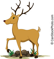 cute deer cartoon - vector illustration of cute deer cartoon