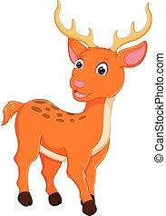 cute deer cartoon standing with smile