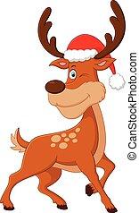 cute deer christmas cartoon