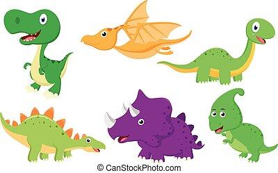 Cute Dinosaur cartoon collection set