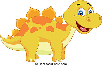 Cute dinosaur cartoon - Vector illustration of Cute dinosaur...