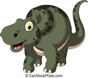 cute dinosaur cartoon posing