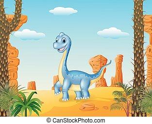 Cute dinosaur posing