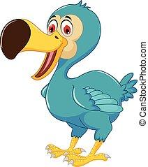 cute dodo bird cartoon posing