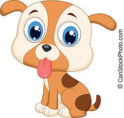 Vector illustration of Cute dog cartoon