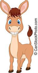 Cute donkey cartoon - Vector illustration of Cute donkey...