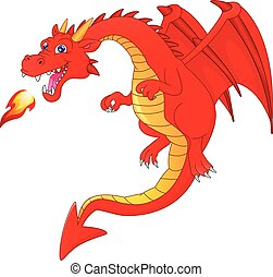 cute dragon cartoon on a white background