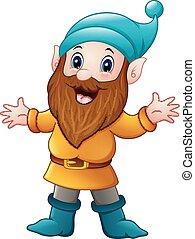 Cute dwarf cartoon