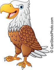 Cute eagle cartoon