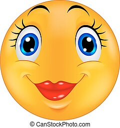 Cute female emoticon smiley