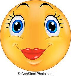 Cute female emoticon smiley