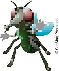 Cute fly animal waving hand - Vector illustration of Cute...