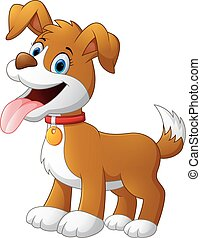 cute fun dog cartoon