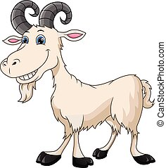 cute goat cartoon - vector illustration of cute goat cartoon...