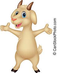 Cute goat cartoon posing - Vector illustration of Cute goat...