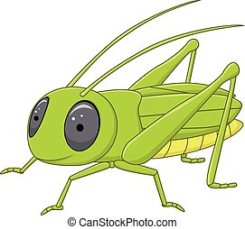 Vector illustration of Cute grasshopper posing isolated on white background