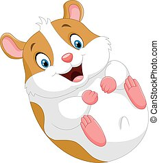 Cute hamster cartoon - Vector illustration of Cute hamster...
