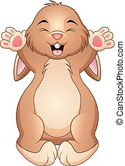 Cute happy rabbit cartoon