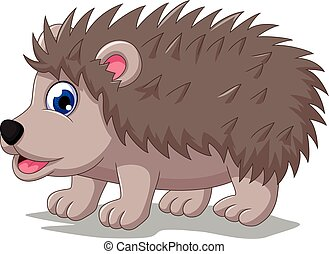 cute hedgehog cartoon posing