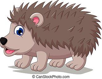 cute hedgehog cartoon posing