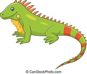 Cute iguana cartoon - Vector illustration of Cute iguana...