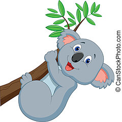Cute koala cartoon - Vector illustration of Cute koala ...