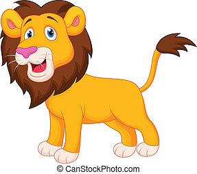 vector illustration of friendly lion waving hand rh canstockphoto com cute baby lion clipart cute lion clipart on transparent background