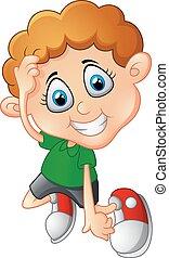 Cute little boy cartoon