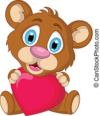 cute little brown bear cartoon