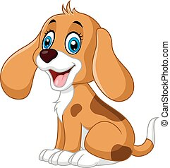 Cute little dog cartoon