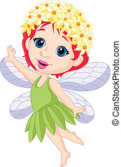 Cute little fairy cartoon