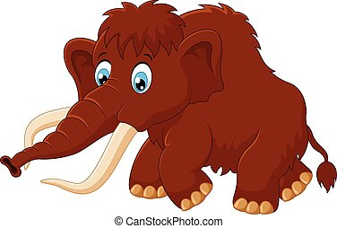 Cute mammoth cartoon