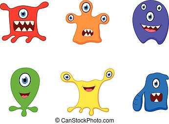 Cute monster cartoon