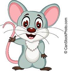 cute mouse cartoon posing