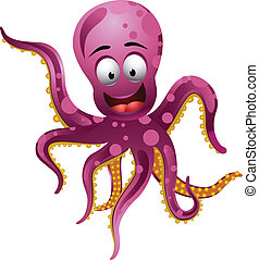 Cute octopus  - vector illustration of Cute octopus