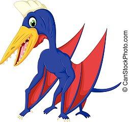 cute pterodactyl cartoon posing