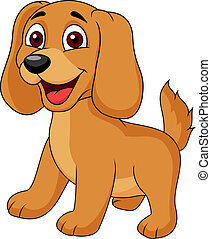 Vector illustration of Cute puppy cartoon