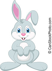 Cute rabbit cartoon - vector illustration of Cute rabbit ...