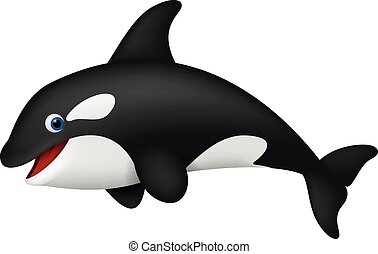 Cute realistic killer whale - Vector Illustration of Cute...