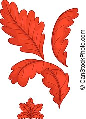 cute red autumn leaf cartoon