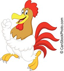 Cute rooster cartoon